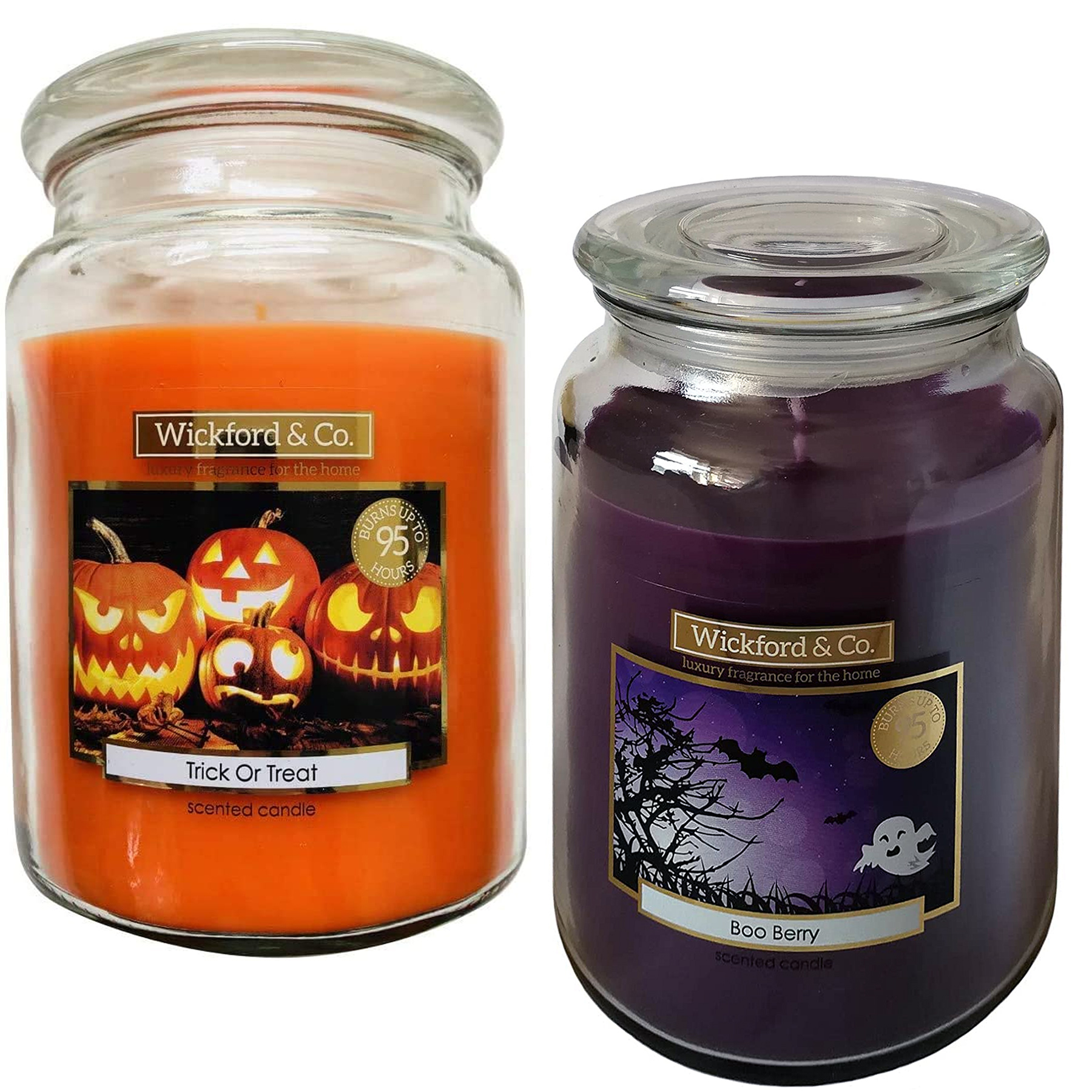 Wickford Co Large Halloween Scented Candle In Glass Jar 15cm Chloes Makeup