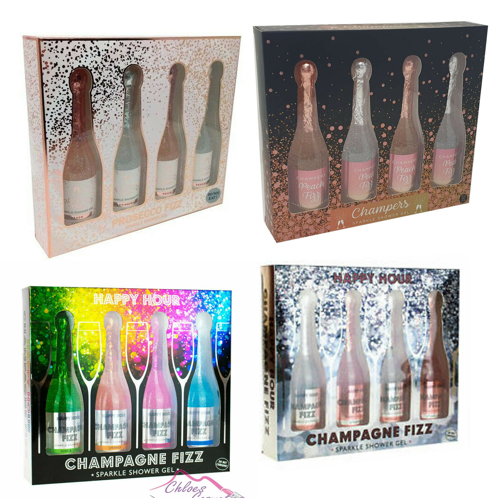 Bottles Of Champagne Fizz Bubble Bath And Shower Gel Novelty Christmas Gift Set Ebay